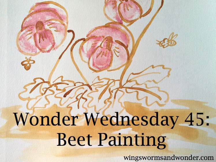 Make time for creative nature connection every Wednesday with Wings, Worms, and Wonder Wonder wednesday activities!! Click through to get your free beet painting project!
