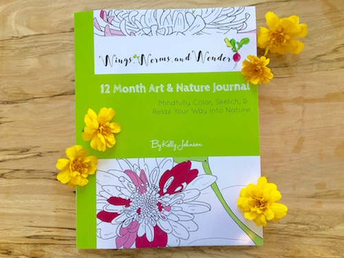 Get creatively connecting with Nature month by month in the Wings, Worms, and Wonder 12 Month Art and Nature Journal!