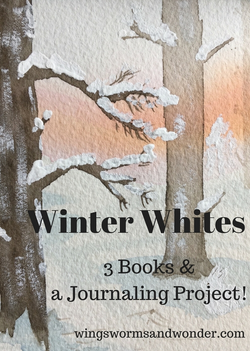 Winter watercolor nature journal inspiration using children's books! Click to get ideas and a fun project exploring whites in nature and watercolor!