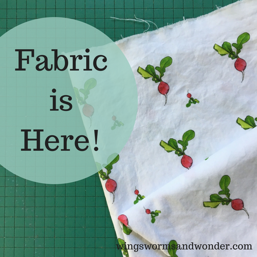 The whimsical radish design comes in 23 fabrics & 3 color ways - crisp white background, a subtle sky blue background, and a buttercream background to suit all your whims!