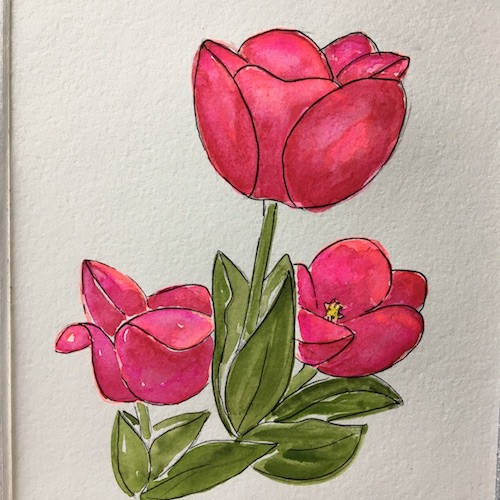 Fluorescent florescence? What is that? In this Wings, Worms, and Wonder blog post we break it down and discover how to paint spring flowers that pop using fluorescent underpainting.