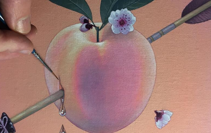 Fluorescent florescence? What is that? In this post we break it down and discover how to paint spring flowers that pop using fluorescent underpainting.