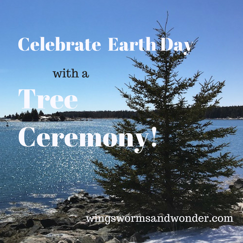 Create a tree ceremony this Earth Day! Click through to get a Wings, Worms, and Wonder plan for your own Earth Day Tree Ceremony!