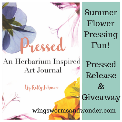 Pressed: An Herbarium Inspired Art Journal is perfect for your next creative nature adventure! Pick, press, paste, and pen flora with your sketches!