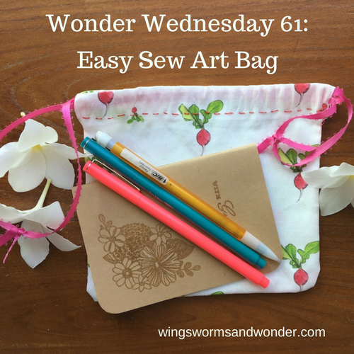 This Wonder Wednesday 61, to celebrate my new print on demand fabric designs, we're going to have a little fun with easy sewing nature art pouches!