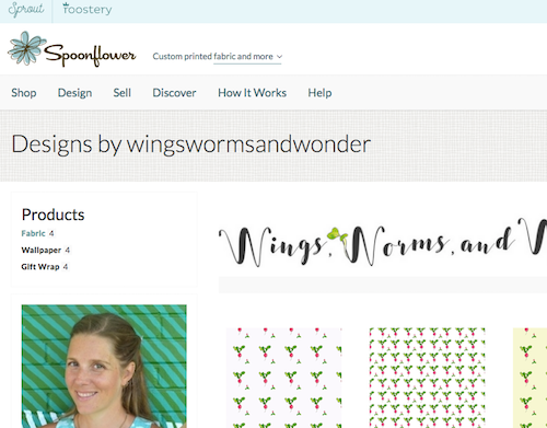 sWings, Worms, and Wonder new fabric designs are officially official! WOW! Is all I can say now that I've had time to check out this eco minded fabric!