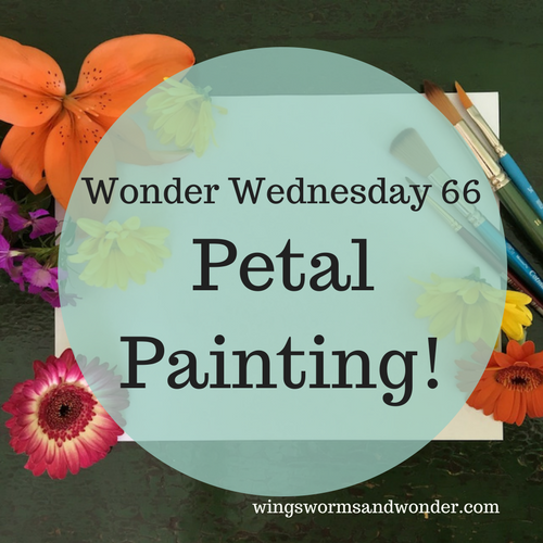 Got winter blues? Pick up a flower bouquet and get painting with Wings, Worms, and Wonder! Click to learn how to make your own petal paint!