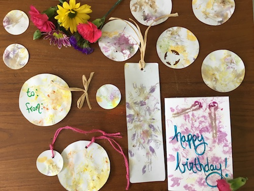 We've painted with petals and printed with leaves, now it's time to petal print! Click to get your free Wonder Wednesday 72 petal printing activity!