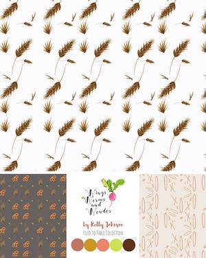 Get handpainted nature inspired fabric printed on demand from Wings, Worms, and Wonder! Click to see all the collections!