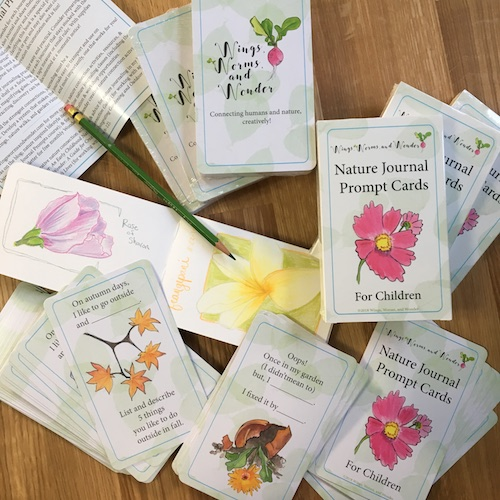The NEW Nature Journal Prompt Cards for Children, edition 2 are real and available to the world!! Check them out and Get yours here!