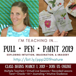 Join me in the live online Class Pull Pen Paint!