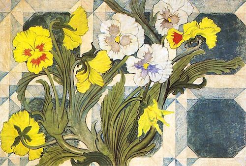 Floral and geometrics combine super powers in the turn-of-the-century art work of Stanisław Wyspiański! Click to learn more and get inspired to make your own clashes with Wings, Worms, and Wonder!