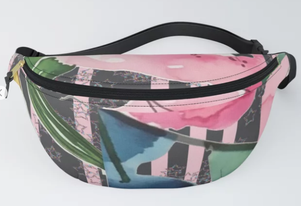 Get this Awesome floral clash fanny pack by Wings, Worms, and Wonder on S6!