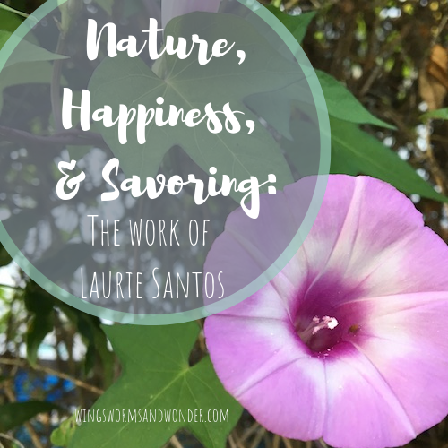 Happiness is something we always want. Increase your nature connections and joy by savoring with Professor Laurie Santos and Wings, Worms, and Wonder!