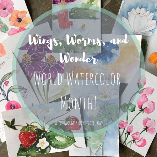 Let's make more art ourselves and make art education accessible to all! Click to join Wings, Worms, and Wonder in World Watercolor Month!