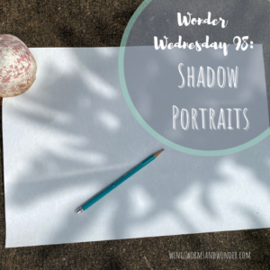 It's Wonder Wednesday! Let's draw shadow portraits! Click to get your Wings, Worms, and Wonder activity plan!