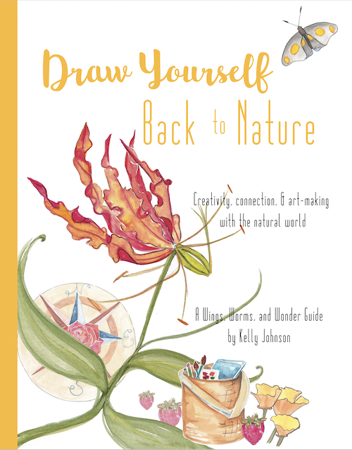 Draw Yourself Back to Nature the book is the perfect guide for everyone seeking to connect with nature through art and creativity! Regardless of experience this Wings, Worms, and Wonder step by step project based book will guide you on your nature journaling journey! Click to learn more and get your copy!