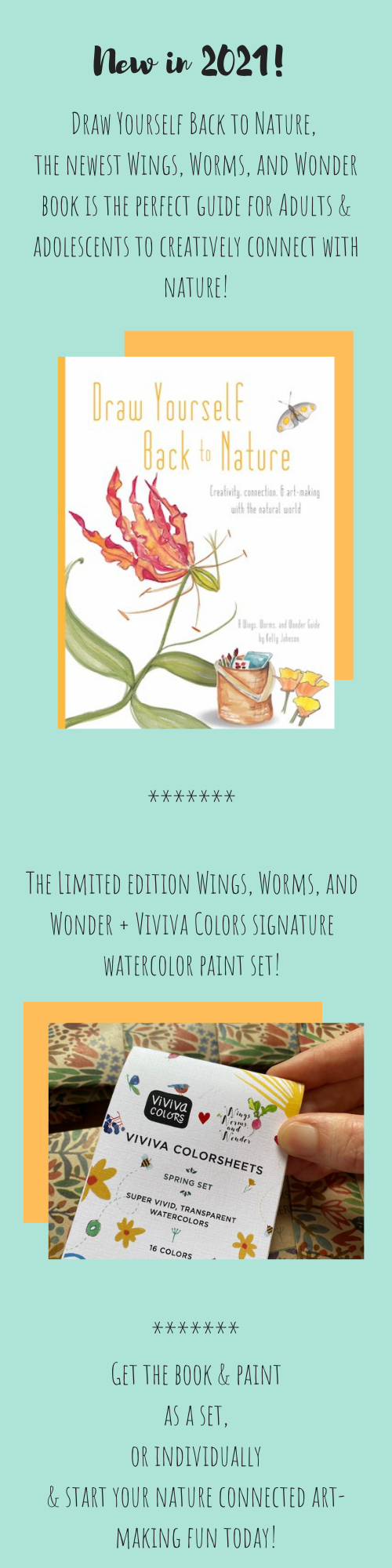 Wings, Worms, and Wonder connects humans and nature, creatively!